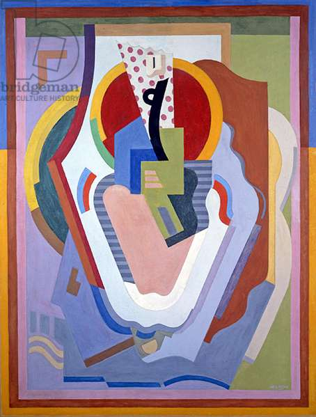 Composition, Madonna and Child, 1930 (oil & tempera on canvas)