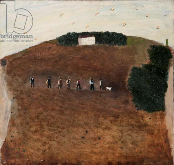 Hoers Going Home, 1971 (oil on board)