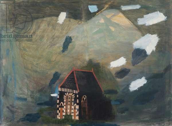 The Welsh Chapel, 1979 (oil on board)