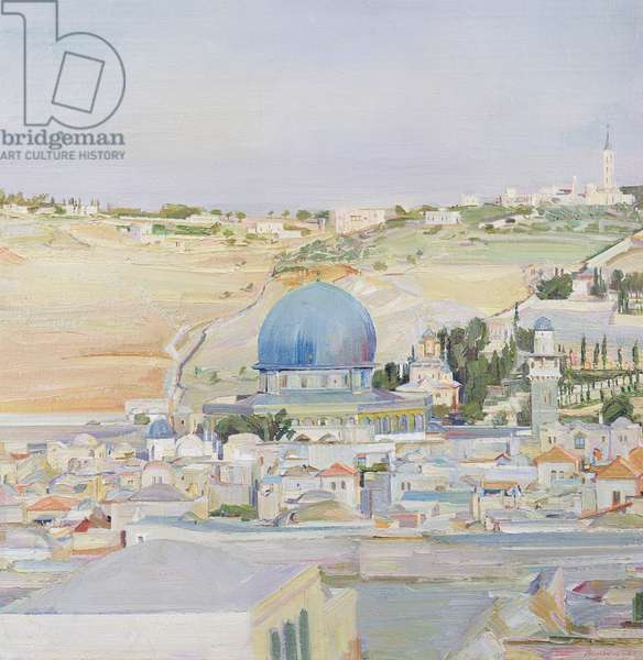 Church of the Holy Sepulchre, Jerusalem, 1925 (oil on canvas)
