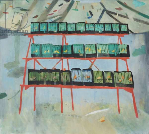 The Half-house Prim Peace, between the judging and the entry of the public, 1978 (oil on canvas)