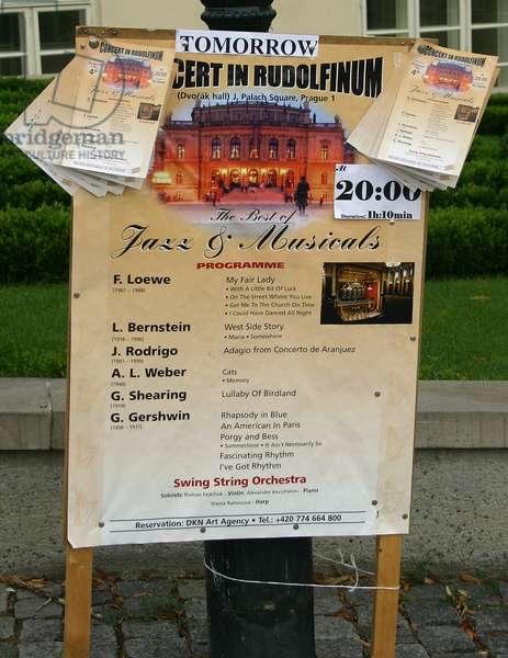 Jazz Music Poster Prague