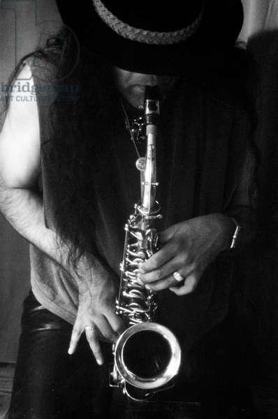 Saxophonist playing (Jarnal Mudhar).