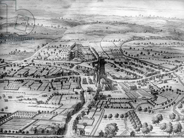 Cirencester Park, from 'The Ancient and Present State of Gloucestershire' by Sir Robert Atkyns, printed 1712 (engraving)