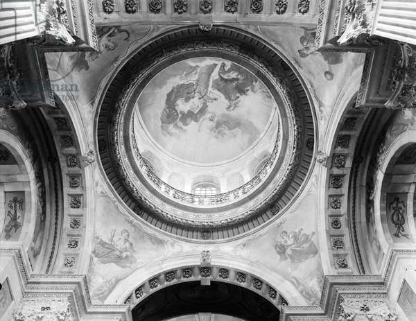 The dome at Castle Howard, Yorkshire, from 'England's Lost Houses' by Giles Worsley (1961-2006) published 2002 (b/w photo)