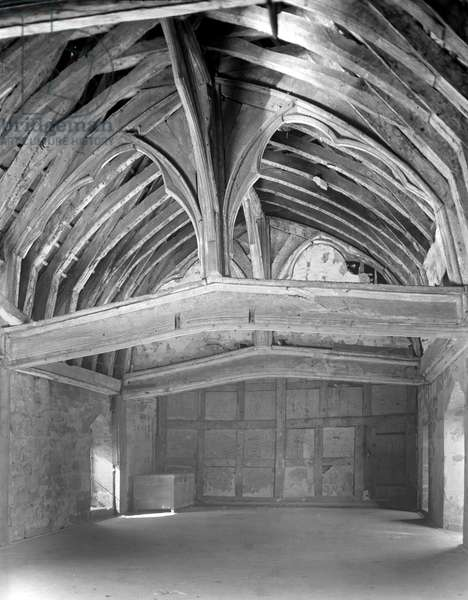 The Great Hall, Brinsop Court (b/w photo)