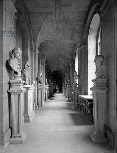 A ground floor corridor, Castle Howard, North Yorkshire, from 'The Country Houses of Sir John Vanbrugh' by Jeremy Musson, published 2008 (b/w photo)