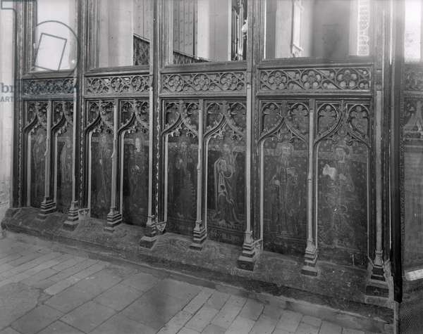 Rood Screen, St. Agnes Church, Cawston (b/w photo) (for detail see 294263)