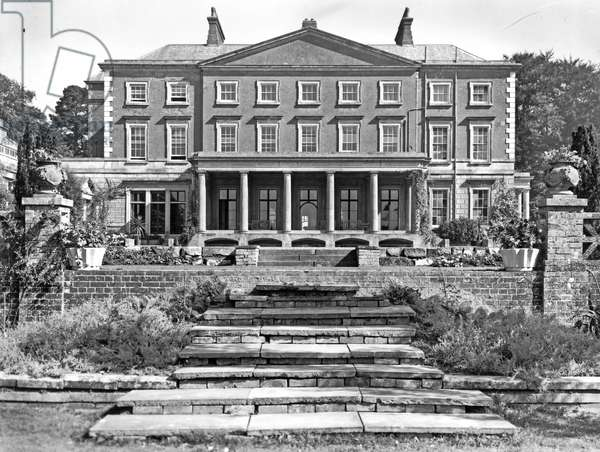The south front, Buxted Park, from 'The English Country House' (b/w photo)