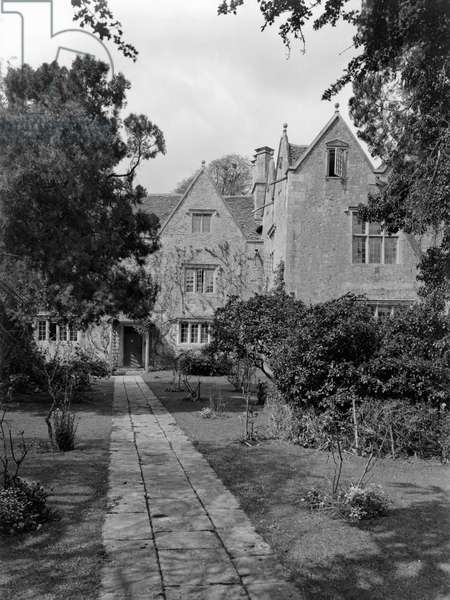 Kelmscott Manor, the approach from the east, from 'Country Houses of the Cotswolds' (b/w photo)