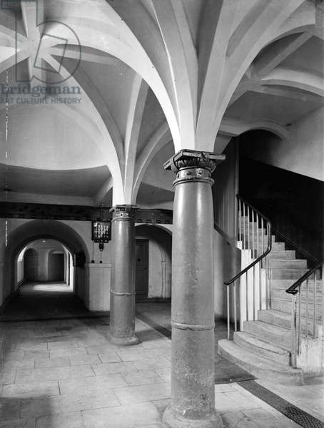 The basement at Lulworth Castle, Dorset, from 'England's Lost Houses' by Giles Worsley (1961-2006) published 2002 (b/w photo)
