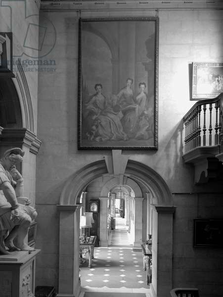 The arches of the corridor in the east wing, Castle Howard, North Yorkshire, from 'The Country Houses of Sir John Vanbrugh' by Jeremy Musson, published 2008 (b/w photo)