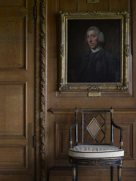Interior with a Portrait of Capability Brown by Nathaniel Dance, Burghley House (photo)