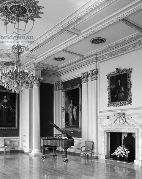 The Saloon at Kimbolton, Cambridgeshire, from 'The Country Houses of Sir John Vanbrugh' by Jeremy Musson, published 2008 (b/w photo)