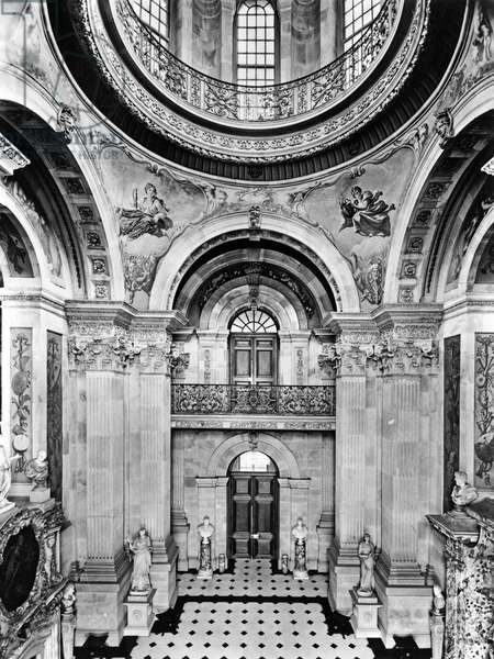 The Great Hall, Castle Howard, North Yorkshire, from 'The English Country House' (b/w photo)