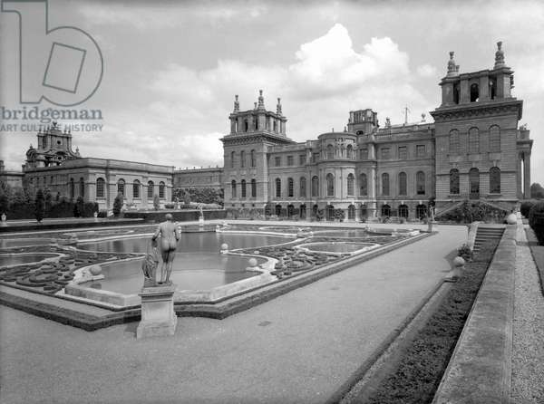 The west front, Blenheim Palace, from 'The Country Houses of Sir John Vanbrugh' by Jeremy Musson, published 2008 (b/w photo)