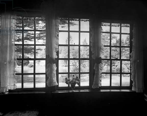 View from a Window, Brinsop Court (b/w photo)