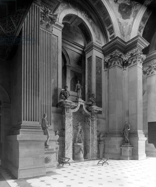 West side of the Great Hall, Castle Howard, North Yorkshire, from 'The Country Houses of Sir John Vanbrugh' by Jeremy Musson, published 2008 (b/w photo)