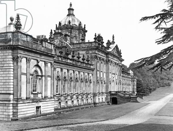 The Garden Front, Castle Howard, from 'The English Country House' (b/w photo)