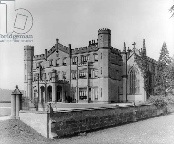 East front of Apley Hall, from 'England's Lost Houses' by Giles Worsley (1961-2006) published 2002 (b/w photo)