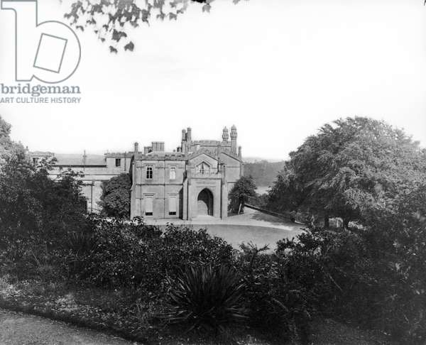 Pentillie Castle, from 'England's Lost Houses' by Giles Worsley (1961-2006) published 2002 (b/w photo)