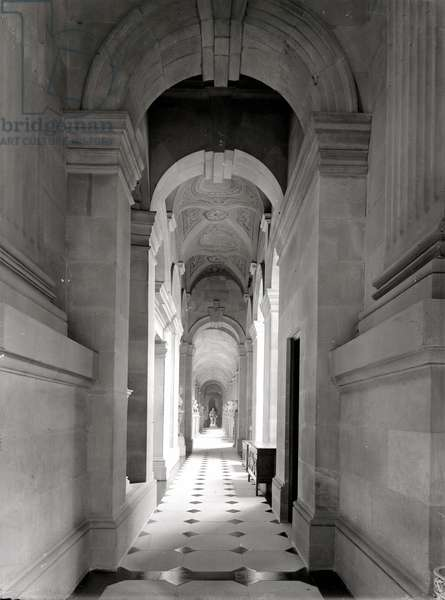 A north corridor looking east, Castle Howard, North Yorkshire, from 'The Country Houses of Sir John Vanbrugh' by Jeremy Musson, published 2008 (b/w photo)
