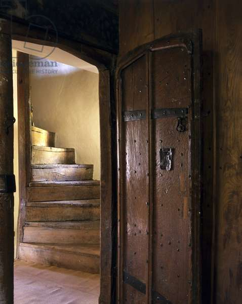 The Staircase leading to the attic floor, Owlpen Manor