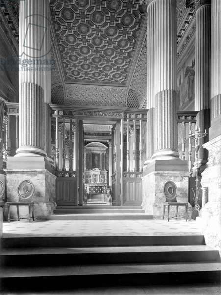 The Chapel looking east, Castle Howard, North Yorkshire, from 'The Country Houses of Sir John Vanbrugh' by Jeremy Musson, published 2008 (b/w photo)