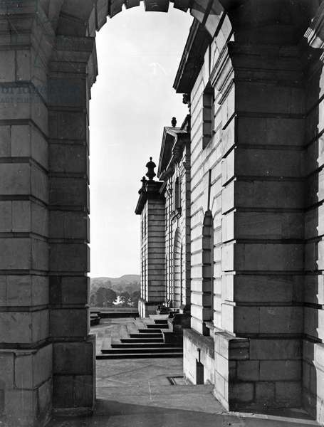 The west wing, Castle Howard, from 'The English Country House' (b/w photo)