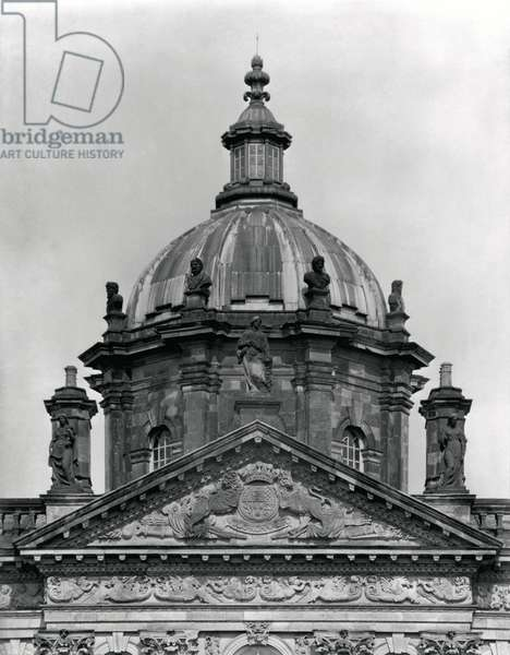 The dome, Castle Howard, North Yorkshire, from 'The Country Houses of Sir John Vanbrugh' by Jeremy Musson, published 2008 (b/w photo)