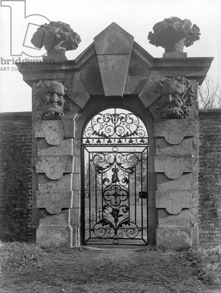 The Satyr Gateway into the walled garden at Castle Howard, North Yorkshire, from 'The Country Houses of Sir John Vanbrugh' by Jeremy Musson, published 2008 (b/w photo)