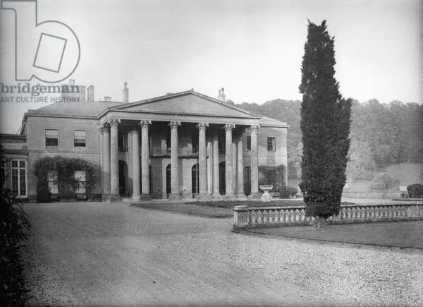 Dodington Park, the west front, from 'Country Houses of the Cotswolds' (b/w photo)