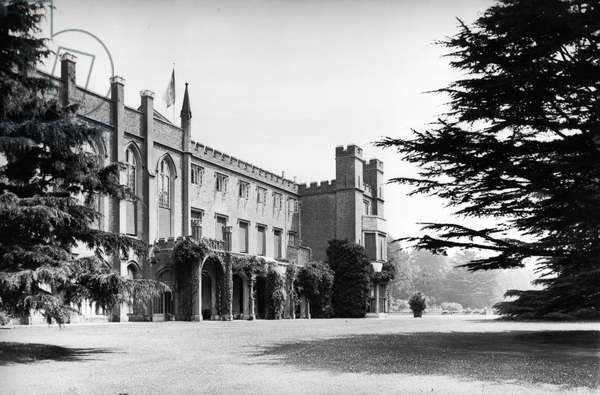 The garden front, Cassiobury Park, from 'England's Lost Houses' by Giles Worsley (1961-2006) published 2002 (b/w photo)