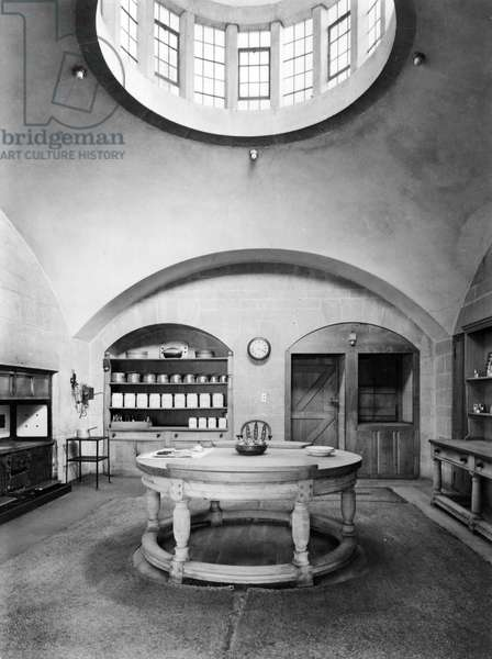 The Kitchen at Castle Drogo from 'Edwin Lutyens: Country Houses' (b/w photo)