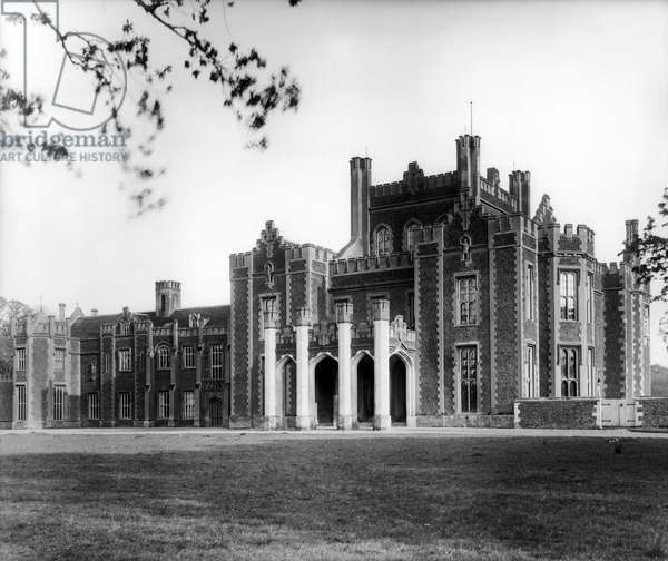 Hillington Hall, from 'England's Lost Houses' by Giles Worsley (1961-2006) published 2002 (b/w photo)