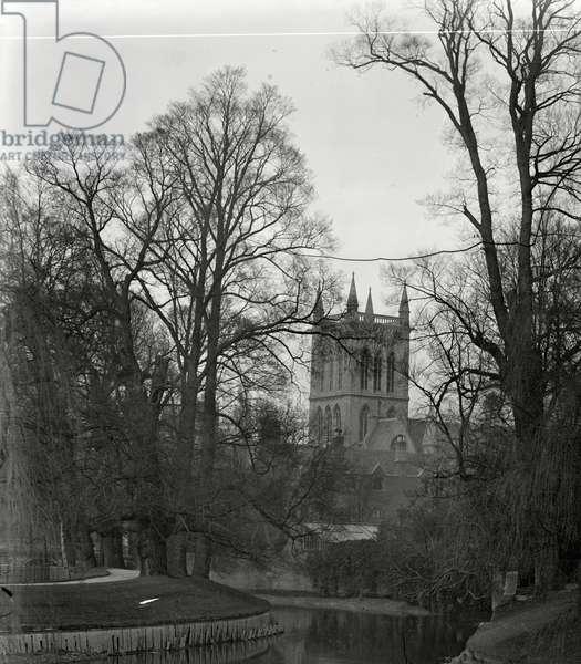 St Johns College (b/w photo)