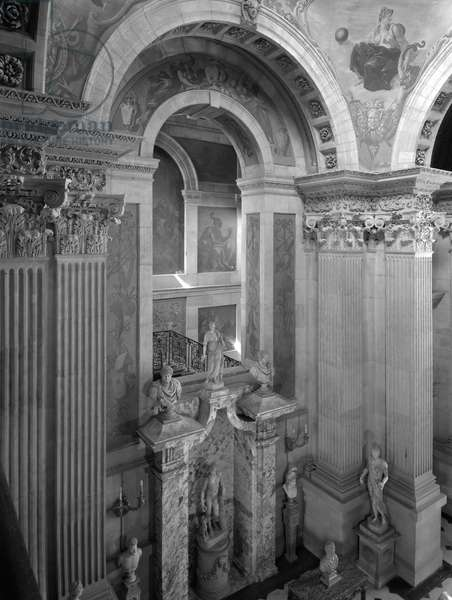 Interior at Castle Howard, North Yorkshire, from 'The Country Houses of Sir John Vanbrugh' by Jeremy Musson, published 2008 (b/w photo)