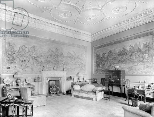 The Chinese Drawing Rooma at Headfort House, County Meath, from 'The Country Houses of Robert Adam', by Eileen Harris, published 2007 (b/w photo)