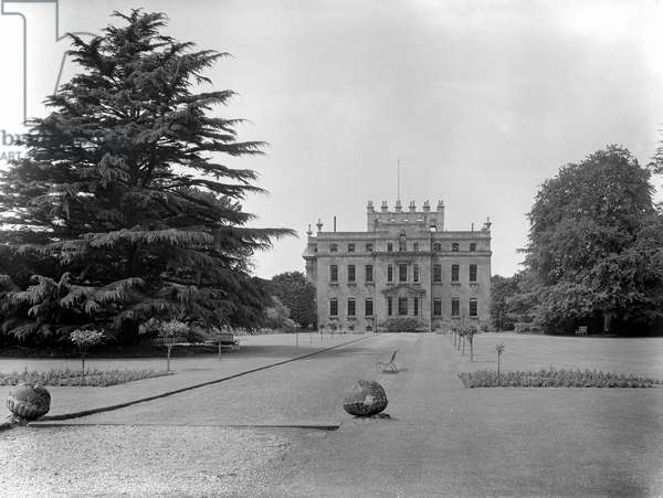 The eastern front and garden, Kings Weston House, Bristol, from 'The Country Houses of Sir John Vanbrugh' by Jeremy Musson, published 2008 (b/w photo)