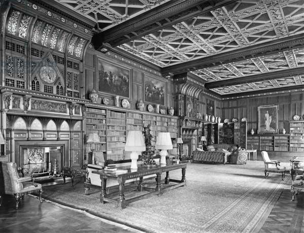 The Library, Eaton Hall, Cheshire, from 'The English Country House' (b/w photo)