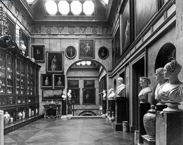 The lobby, Castle Howard, North Yorkshire, from 'The English Country House' (b/w photo)