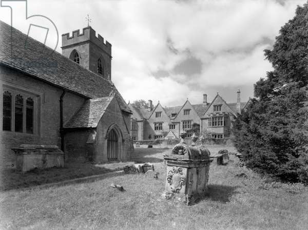 Asthall Manor, from 'Country Houses of the Cotswolds' (b/w photo)