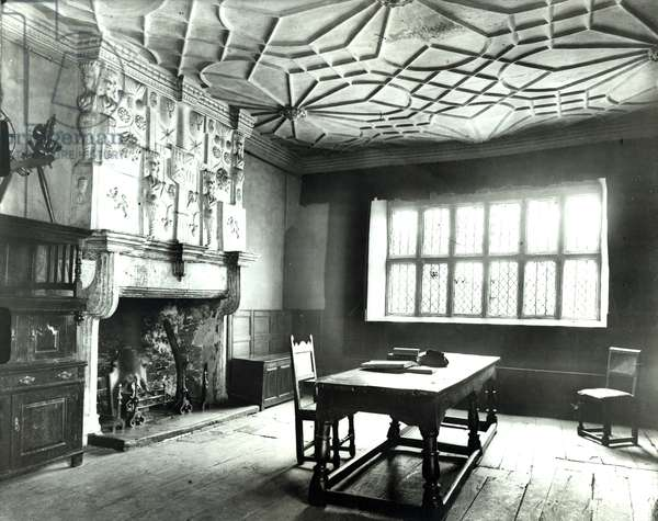 The Banqueting Hall, Plas Mawr, Plas Mawr, Conwy, from '100 Favourite Houses' (b/w photo)