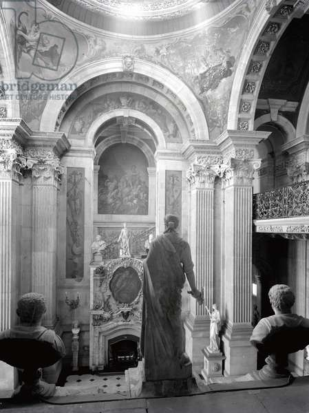 The view from the west staircase, Castle Howard, North Yorkshire, from 'The Country Houses of Sir John Vanbrugh' by Jeremy Musson, published 2008 (b/w photo)