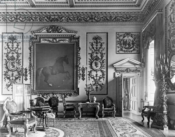 The Whistlejacket Room, Wentworth Woodhouse, South Yorkshire, from 'The English Country House' (b/w photo) (see also 306334)