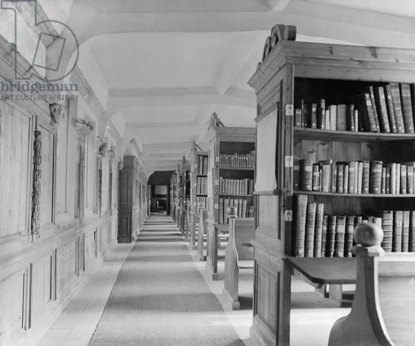 The Old Library, Wells Cathedral, Somerset (b/w photo)