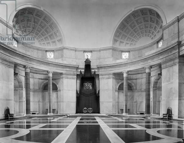 The Durbar Hall at the Viceroy's House, from 'Edwin Lutyens: Country Houses' (b/w photo)
