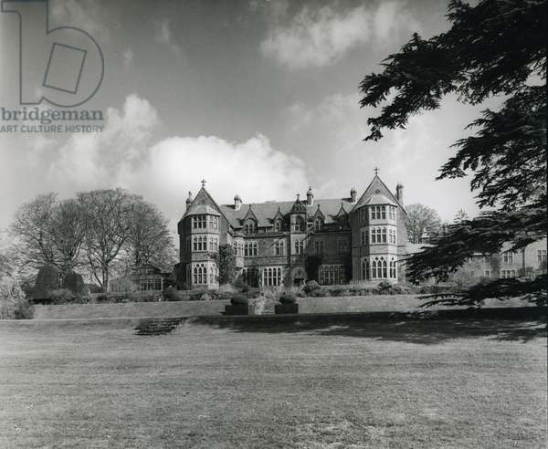 Knightshayes Court, from '100 Favourite Houses' (b/w photo)