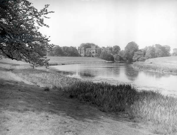 Tong Castle, from 'England's Lost Houses' by Giles Worsley (1961-2006) published 2002 (b/w photo)