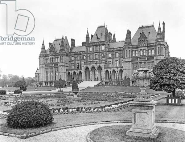 The east facade, Eaton Hall, from 'The English Country House' (b/w photo)